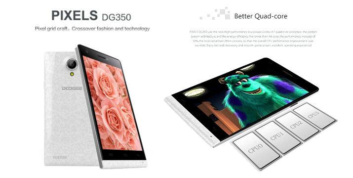 PIXELS DG350 4.7-inch MTK6582 1.3GHz Quad-core Smartphone, 145€ !!!  Το DG350 smartphone διαθέτει 4,7-ιντσών capacitive, IPS OGS οθόνη αφής με 1280x720 pixels. Quad core υψηλής απόδοσης  επεξεργαστή 1.3GHz MTK6582 και λειτουργικού συστήματος Android 4.2.9
