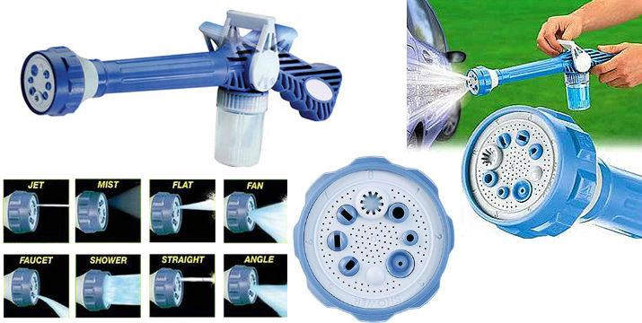 14,90€ ΜΟΝΟ, για το Ισχυρό Πιεστικό Νερού με δοχείο για σαπούνι ΕΖ Jet Water Canon.  Πιεστικό που προσαρμόζεται στο λάστιχο της βρύσης και κάνει το πλύσιμο του αυτοκινήτου,της βεράντας,των επίπλων κήπου,κλπ παιχνιδάκι. Με επιλογή 8 διαφορετικών ρυθμίσεων και ειδική υποδοχή για σαπούνι. Εύκολο στη χρήση και πρακτικό.