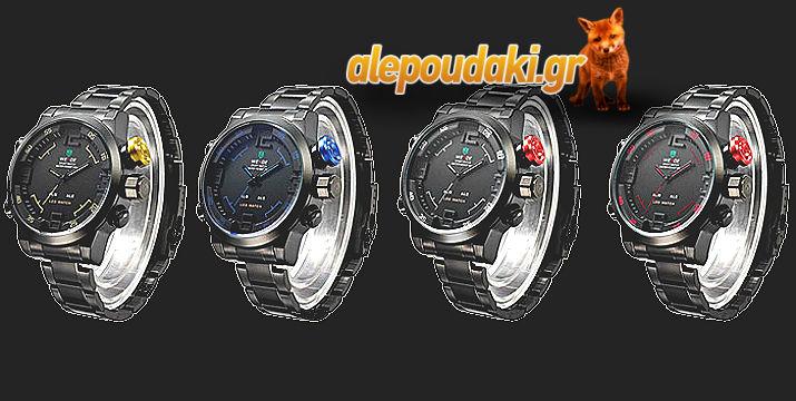 WEIDE WH2309 Ανδρικό σπόρ στρατιωτικού στύλ LED ρολόι καρπού 71756f022a5
