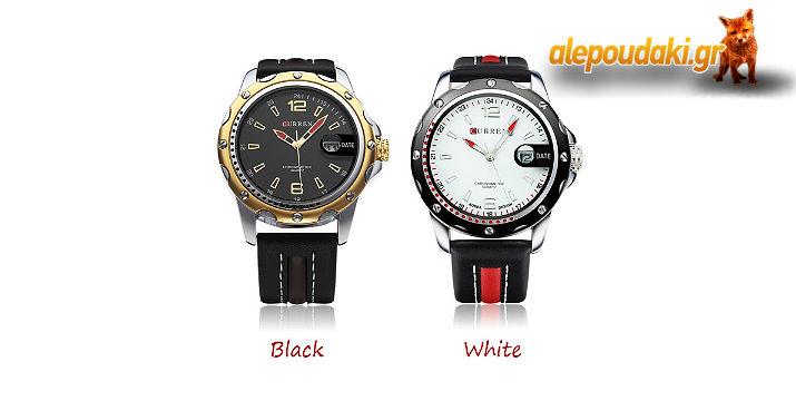CURREN 8104 PU Leather Date Fashion. Ένα Ανδρικό ρολόι χειρός, με δερμάτινο λουράκι και μοντέρνα χαρακτηριστικά !!