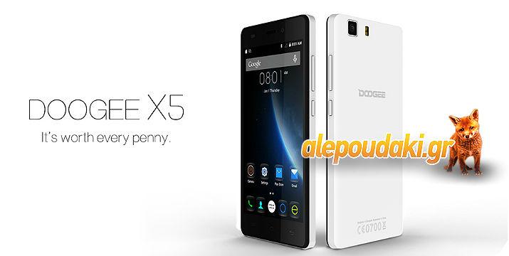 5.0 inch DOOGEE X5 Android 5.1 3G Smartphone MTK6580 Quad Core 1GB RAM + 8GB ROM OTA OTG GPS