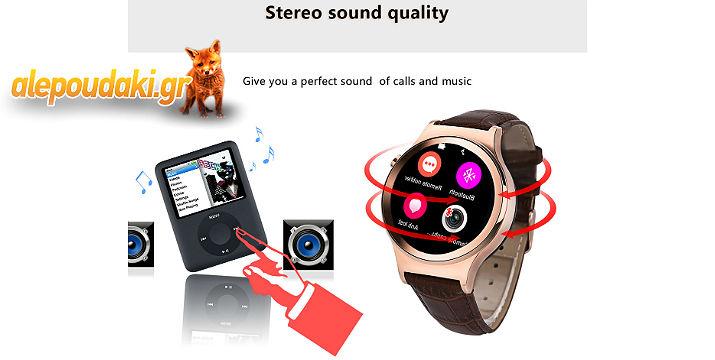Νο.1 S3 Round Dial Smartwatch Phone MTK2502 Heart Rate Monitor Sleep Monitor Thermometer Water-resistance Bluetooth 4.0. Μπορείτε να καλέσετε ή να απαντήσετε σε ένα τηλεφώνημα από το ρολόι στον καρπό σας. Εύκολος και αυτόματος συγχρονισμός πληροφοριών με το έξυπνο τηλέφωνο σας !!!