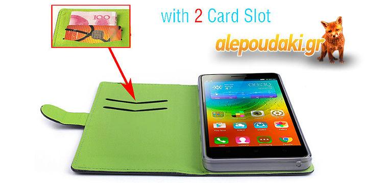 Lenovo K3 note K50-Stand Flip Case PU, Θήκη Πορτοφόλι με δερμάτινο κάλυμμα !! Πολυτελής, ειδικά για το αγαπημένο σας Lenovo K3 Note !!!
