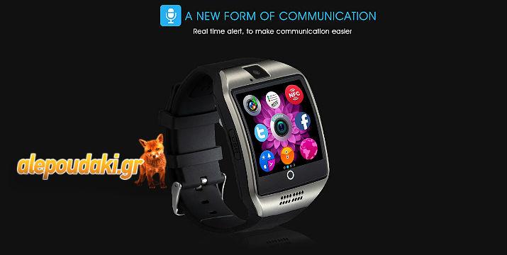 Q18 1,54 ιντσών SmartWatch - Τηλέφωνο με MTK6260 360MHz,  Βηματόμετρο, Υπενθύμιση βελτίωσης της Καθιστικής Ζωής, NFC, Bluetooth, κάμερα