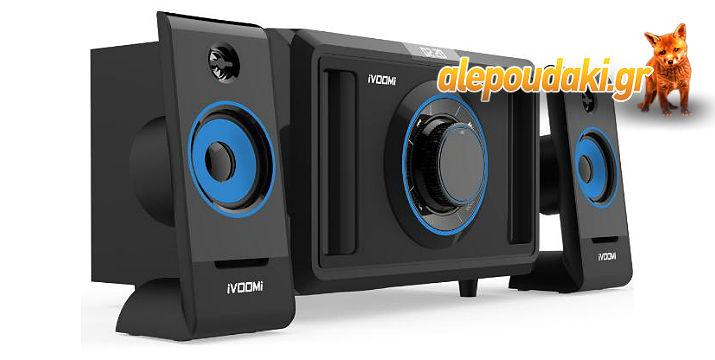 IVOOMi ηχεία 2.1ch, USB, SD, FM, χειριστήριο, 50watt. Το USB μουσικό σας σύστημα ..!!!