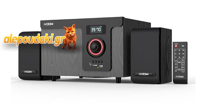 iVOOMi Ηχεία 2.1 , 40 watt, USB, SD, FM , LCD, Τηλεχειριστήριο. Το USB μουσικό σας σύστημα ..!!!
