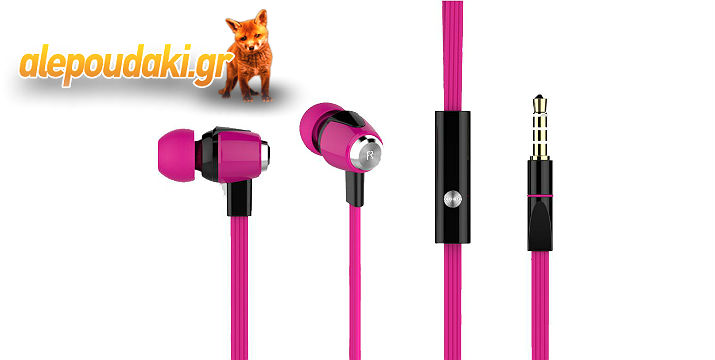 CELEBRAT ακουστικά HANDSFREE (ONOFF) Plastic+TPE, σε τέσσερα υπέροχα χρώματα !!!