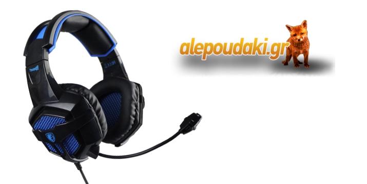 To  SADES Bpower-blue Gaming Headset είναι ιδανικό για gaming !!!