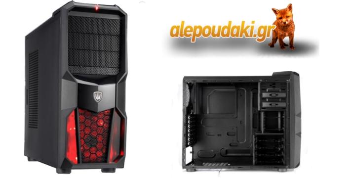 POWERTECH Gaming κουτί για Η/Υ με LED ανεμιστήρα 120mm σε κόκκινο ή μπλε χρώμα !!!
