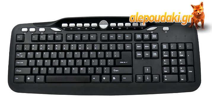 POWERTECH Keyboard PT-302, Multimedia, ενσύρματο, 122 keys