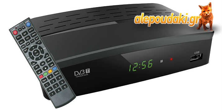 POWERTECH επίγειος MPEG 4 με SCART & HDMI, προγρ. τηλεχειριστήριο