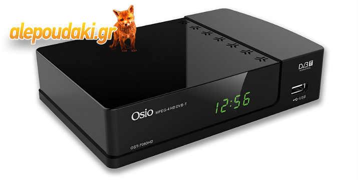 OSIO OST-7080HD USB ΨΗΦΙΑΚΟΣ ΔΕΚΤΗΣ, αποκωδικοποιητής High Definition με πολυχειριστήριο