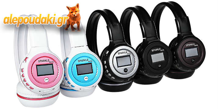 B-570, LED Display Screen Wireless Stereo Bluetooth V4.0 Headphones with FM Radio TF Card Slot