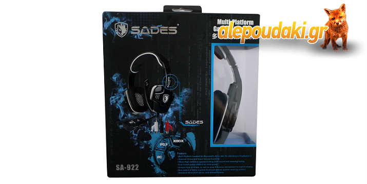 SADES Gaming headset 3in1 USB - (Spider), 40mm - ακουστικά