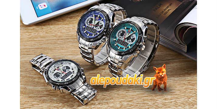 TVG 568 Dual Movt ψηφιακό, ανδρικό ρολόι καρπού, στρατιωτικού τύπου, Guartz, με φωτισμό LED, χρονογράφο,  σπορ, για υπαίθρια αθλήματα.