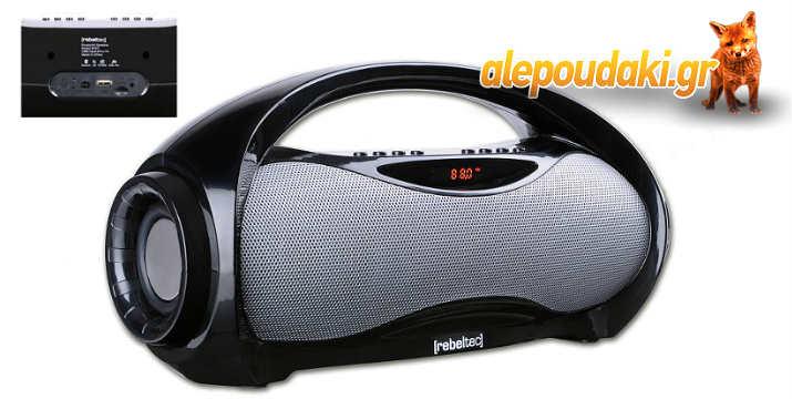 REBELTEC SoundBox 320 Multimedia Speaker, Bluetooth, FM Radio, USB