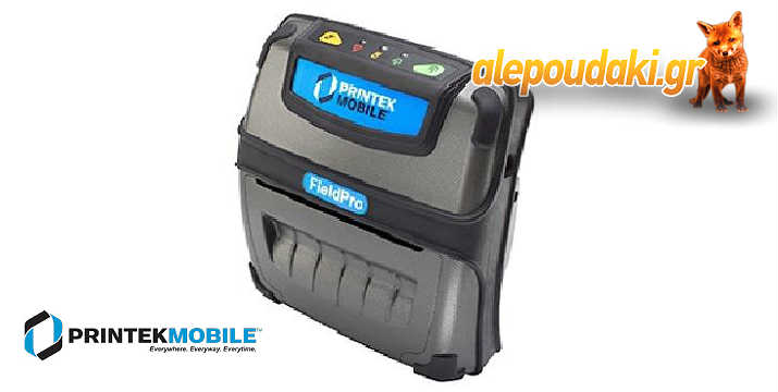 Mobile Printer FieldPro RT43. Ο πιο συμπαγής, ελαφρύς και προσιτός φορητός εκτυπωτής σώματος, 4 ιντσών. Ιδανικός για όλες τις ανάγκες απόδειξης παραλαβής, παραγγελίας και εισιτηρίων 3 ή 4 ιντσών.