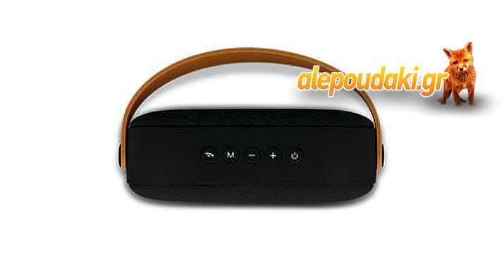 FOREVER Bluetooth Speaker BS-400, USB, Line-in, MicroSD. Μοντέρνος σχεδιασμός σε μορφή τσάντας, χειρολαβή σιλικόνης και μικρόφωνο για κλήσεις ανοικτής ακρόασης !!!