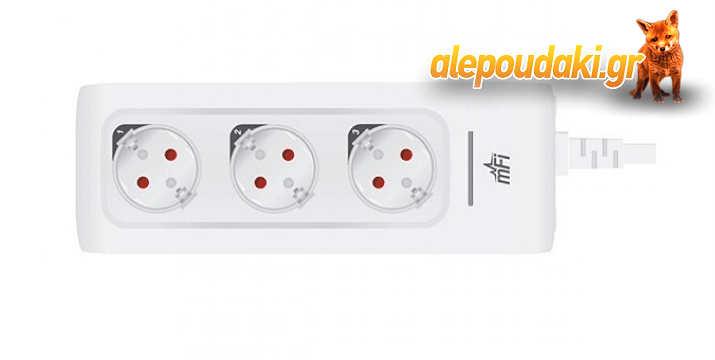 Ubiquiti MPOWER mfi 3 - θυρο δικτυακό πολύπριζο με WiFi και απομακρυσμένο έλεγχο. Το MPOWER είναι ενα δικτυακό πολύπριζο που συνδέεται με το δίκτυο IP σας μέσω Wi-Fi με απεριόριστη επεκτασιμότητα συσκευών !!