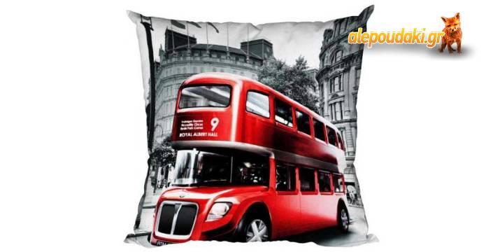 Στολίστε το χώρο σας με το διακοσμητικό μαξιλάρι Λονδίνο και εντυπωσιάστε φίλους και αγαπημένα πρόσωπα.  Πολύ καλή ιδέα για δώρο. (p.153)